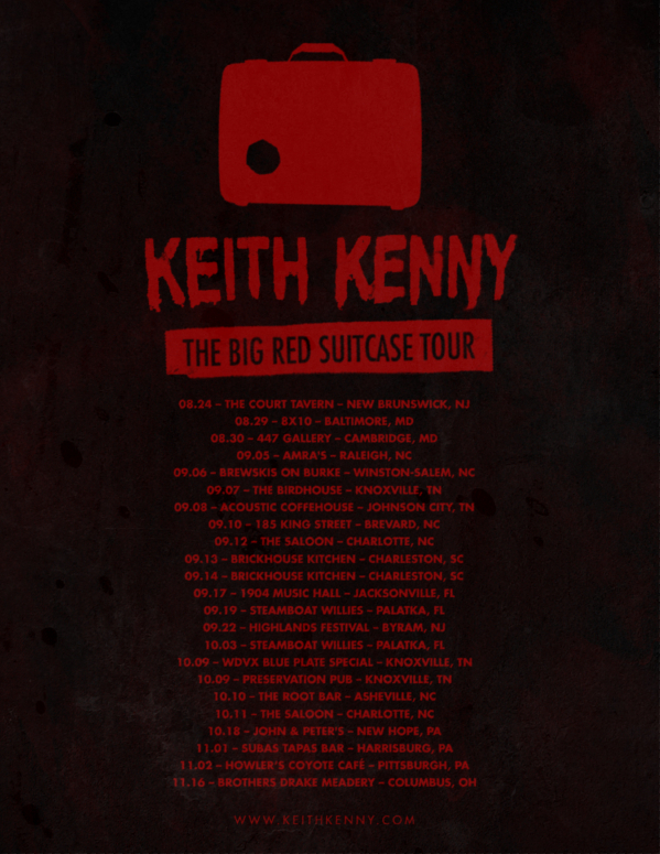Keith Kenny - Big Red Suitcase Tour - Flyer2web